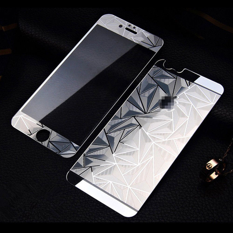 Fancy Color Diamond Screen Protector For Iphone 6 7 8 PlusPremium Front And Back Tempered Glass With Design
