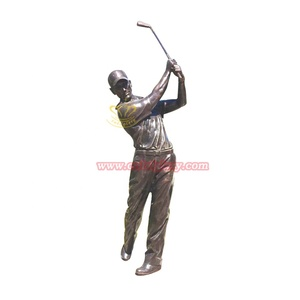 Custom Design Bronze man statue playing golf sculpture