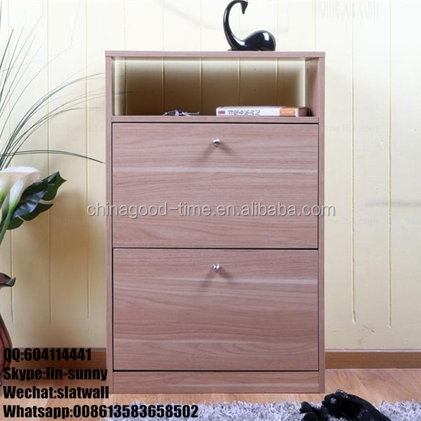KD design shoe storage cabinet with 2 doors