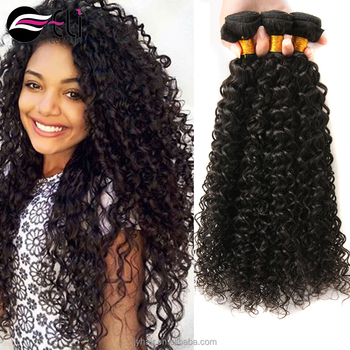 Factory Direct Supply Virgin Hair 100% Human Hair kinky Curly Peruvian/ Malaysian/ Indian/ Brazilian/ Mongolian Hair Weave
