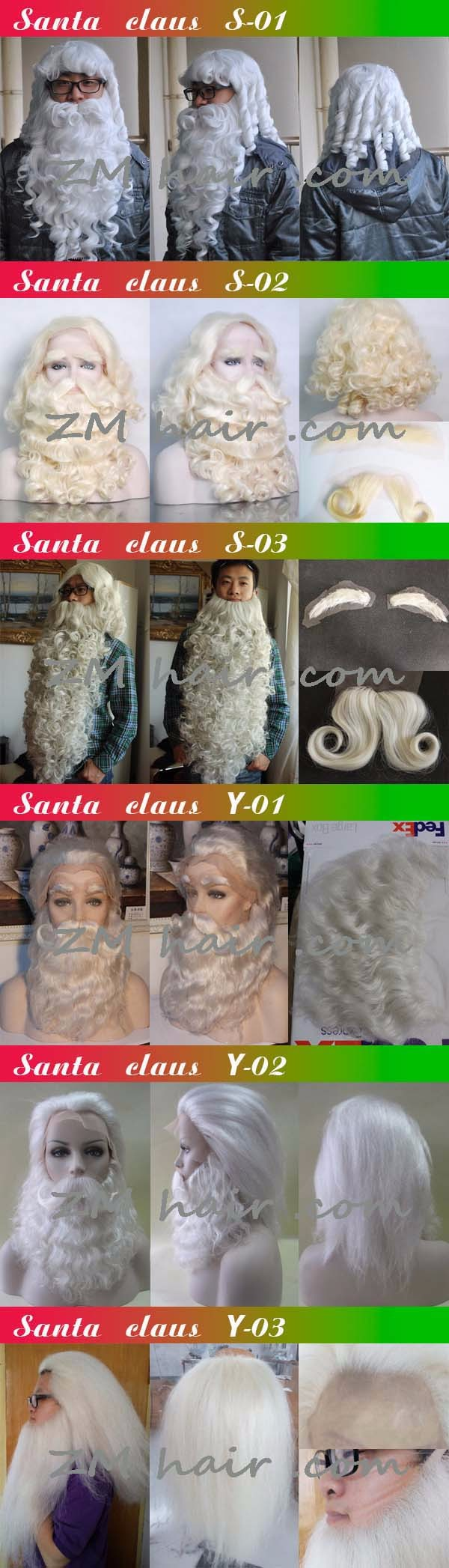 Yak Hair Santa Wigs 53