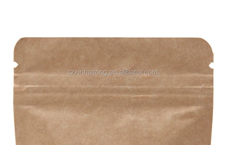 Stand Up Ziplock Kraft Paper Pouch Bag With Aluminum Foil Inside ...