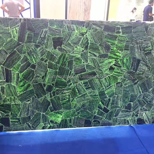 Crystal green gem stone, Green Semi Precious Stone Tile Green Gemstone agate