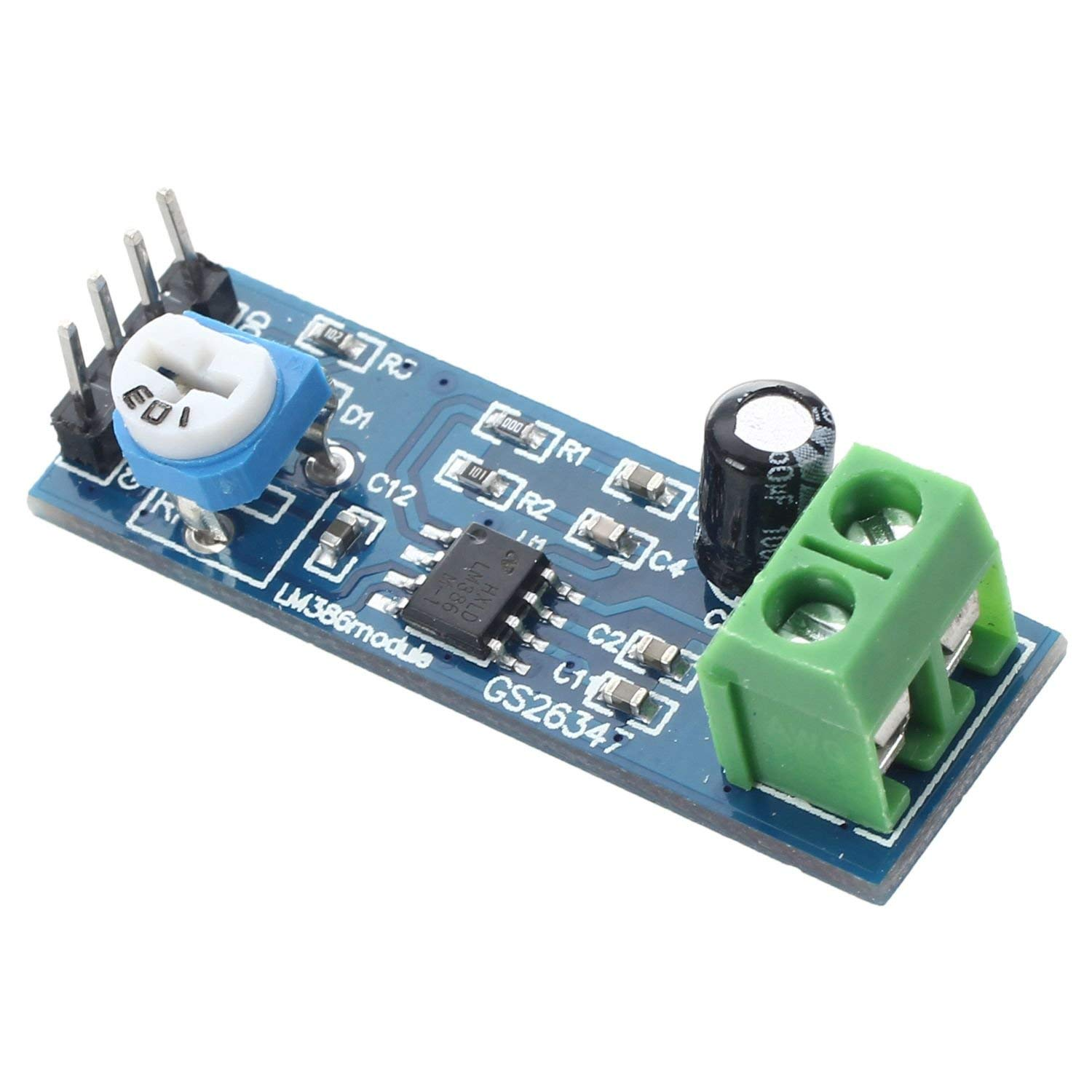 Cheap Lm386 Audio Amplifier Circuit Find Tda7492 Digital Power Board Blue Silver Get Quotations Sodial Module 200 Times 5 12v 10k Adjustable Resistance