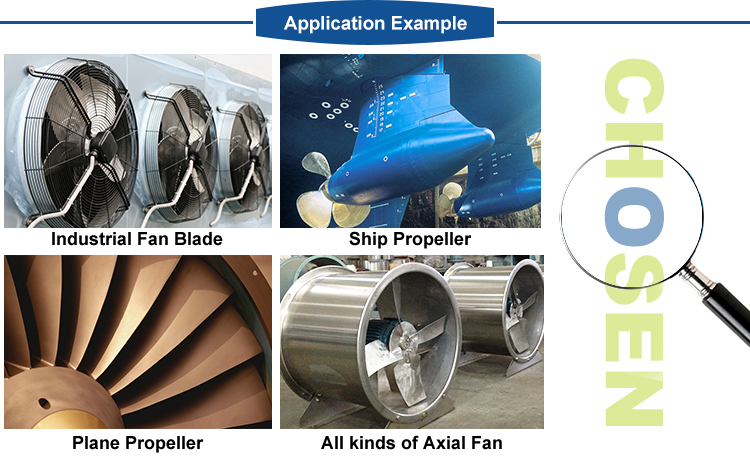 Plastic low price fan impeller