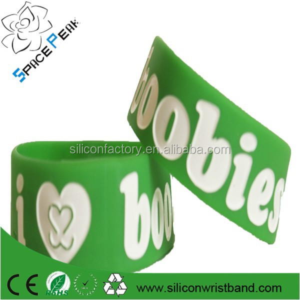 Custom bracelets glow in the dark wristbands silicone rubber arm bands