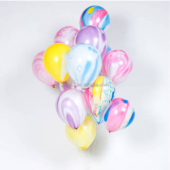 colourful wedding decoration high quality marble striped balloons