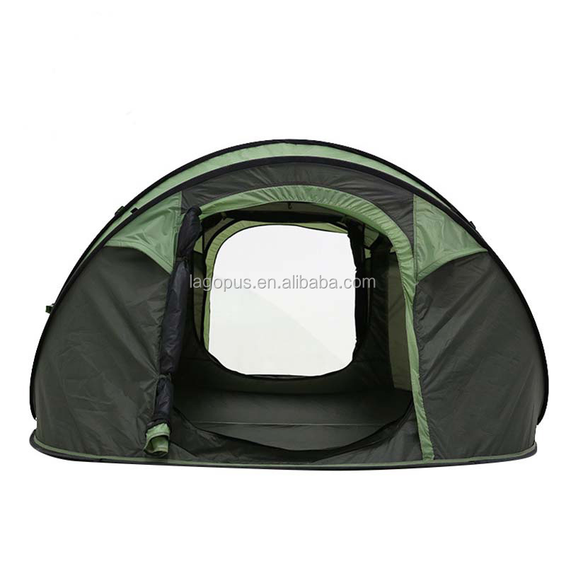Outdoor Large one second to quickly open 4 person Family Camping Tent