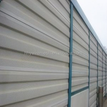 Factory Directly Supply Aluminum Galvanized metal highway temporary noise barrier