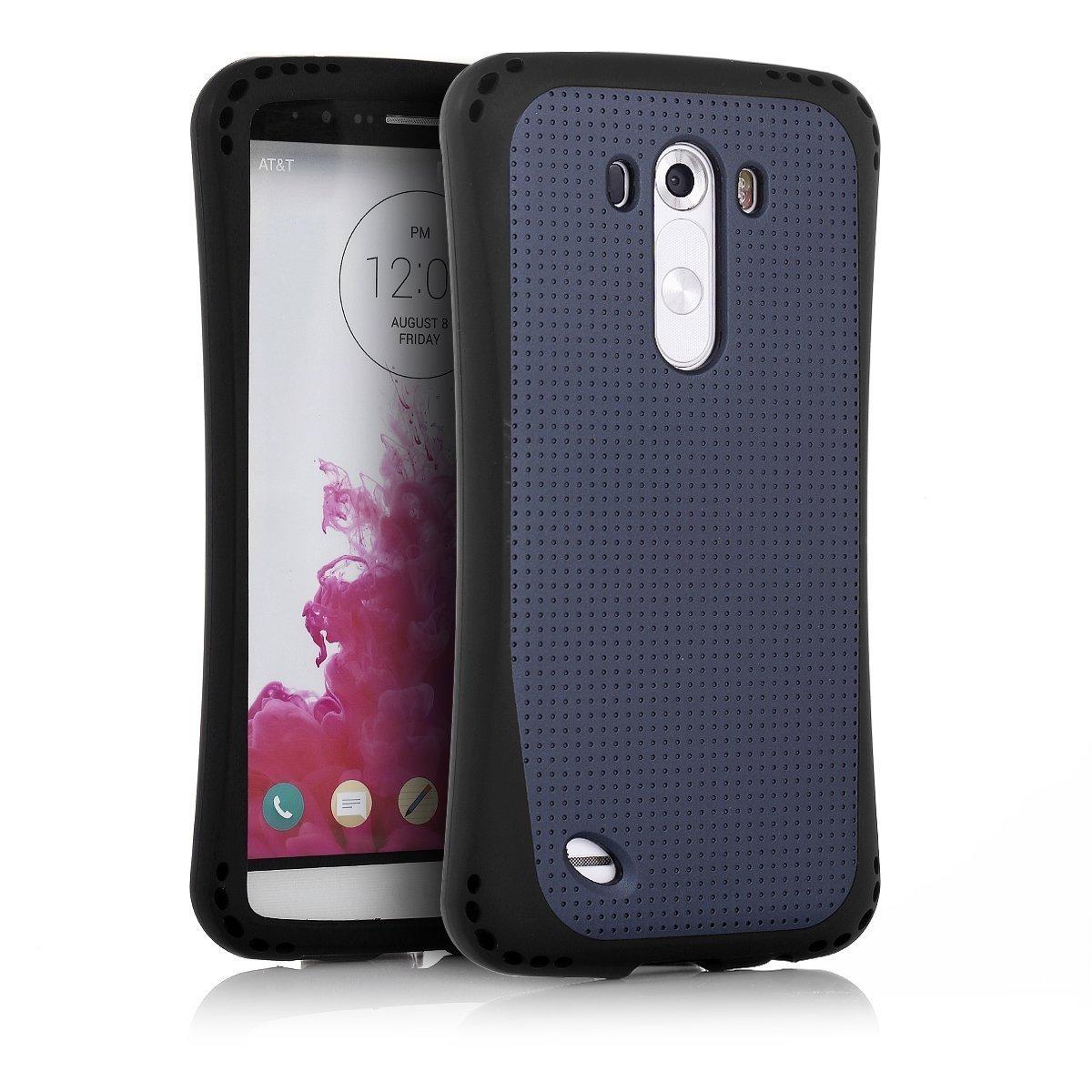 LG G3 Case, Easylife Anti-Slip Anti-shock Tough Armor Protective Case Cover for LG G3 (Black)