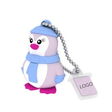 Groothandel Populaire Keizerspinguïn Happy Feet Aangepaste Cartoon Dieren Usb 2.0 Goedkope Fashion PVC Usb <span class=keywords><strong>Drive</strong></span>