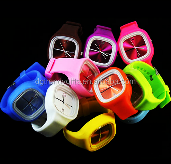 Custom Jelly Silicone Watches Silicone Quartz Wristband Watch 3ATM Waterproof