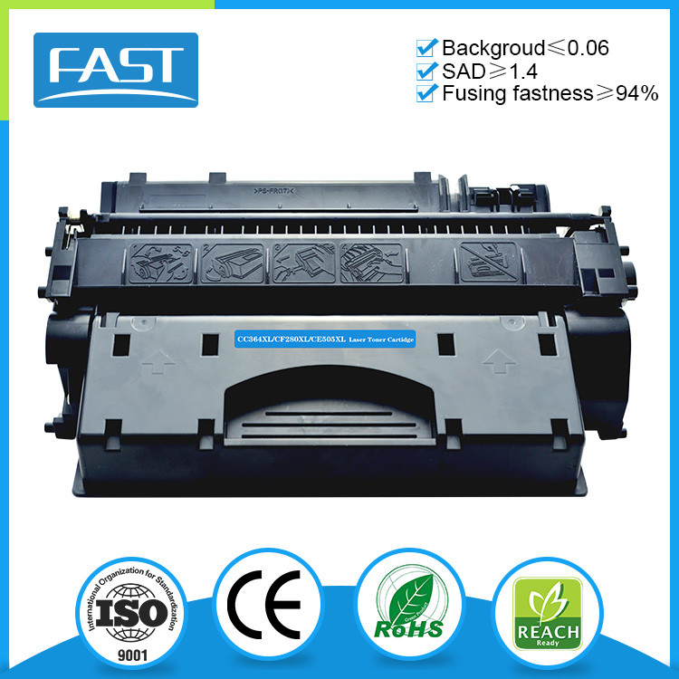 China factory black printer toner cartridge CE505XL compatible for Canon LBP-6650dn