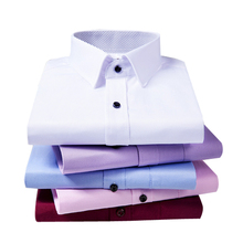 Hot Selling Custom Strijkvrij Oxford Stand Kraag Lange Mouwen Mannen Dress <span class=keywords><strong>Shirts</strong></span>