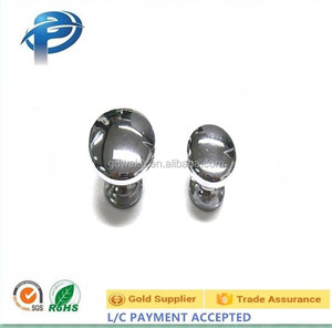 Glossy round small furniture handle&knobs for kitchen cabinet , Sleek Satin Nickel Beautifully designed Ball cabinet knob