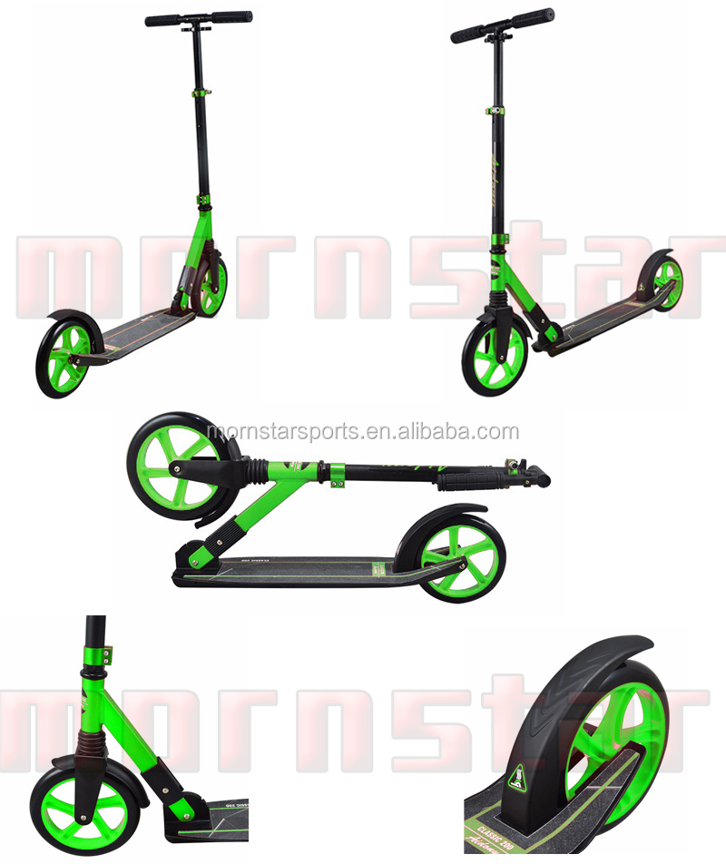 Aluminum Adult Kick Scooter 230mm Wheel Folding And Adjustable