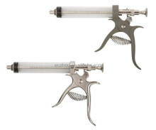 Pistol veterinary syringe