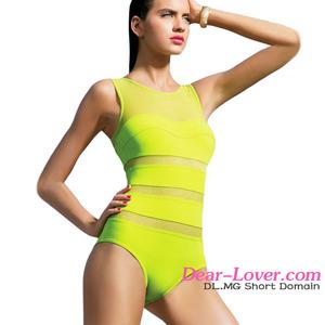8f3753d5a1f Luxury Wholesale Lime Mirage Mesh Insert One-Piece Fashion Extreme Bikini