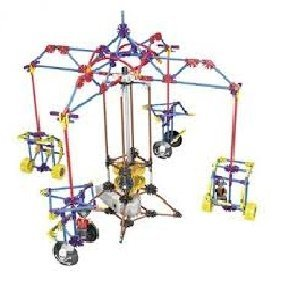 Carrousel Amusement Park Rotating Cable Car Series 360Pc Height 15 in, Intelligent Toy, Electric Building Blocks Set, Compare To K'nex Building Toys