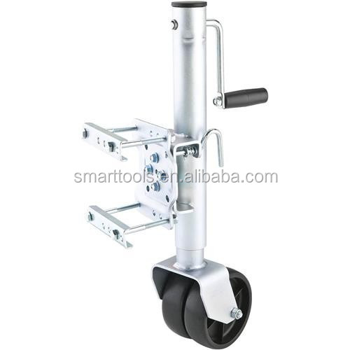 Hydraulic Trailer Jack with rubber wheel
