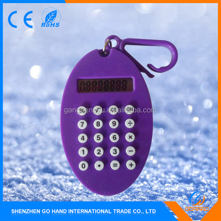 Top Level Mini Silicone Keyboard Electronic Gift Calculator With Keychain