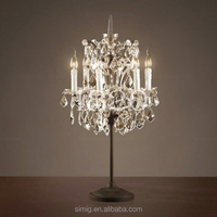 clear color crystal chandelier bedside table lamp for wedding decoration