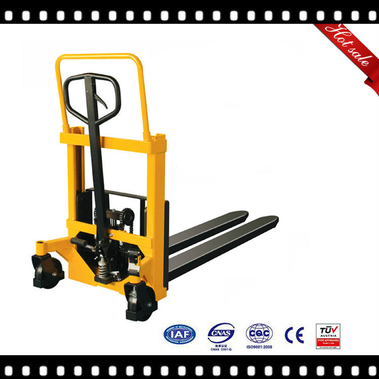 Hydraulic manual pallet truck stacker 1500kg electric forklift.