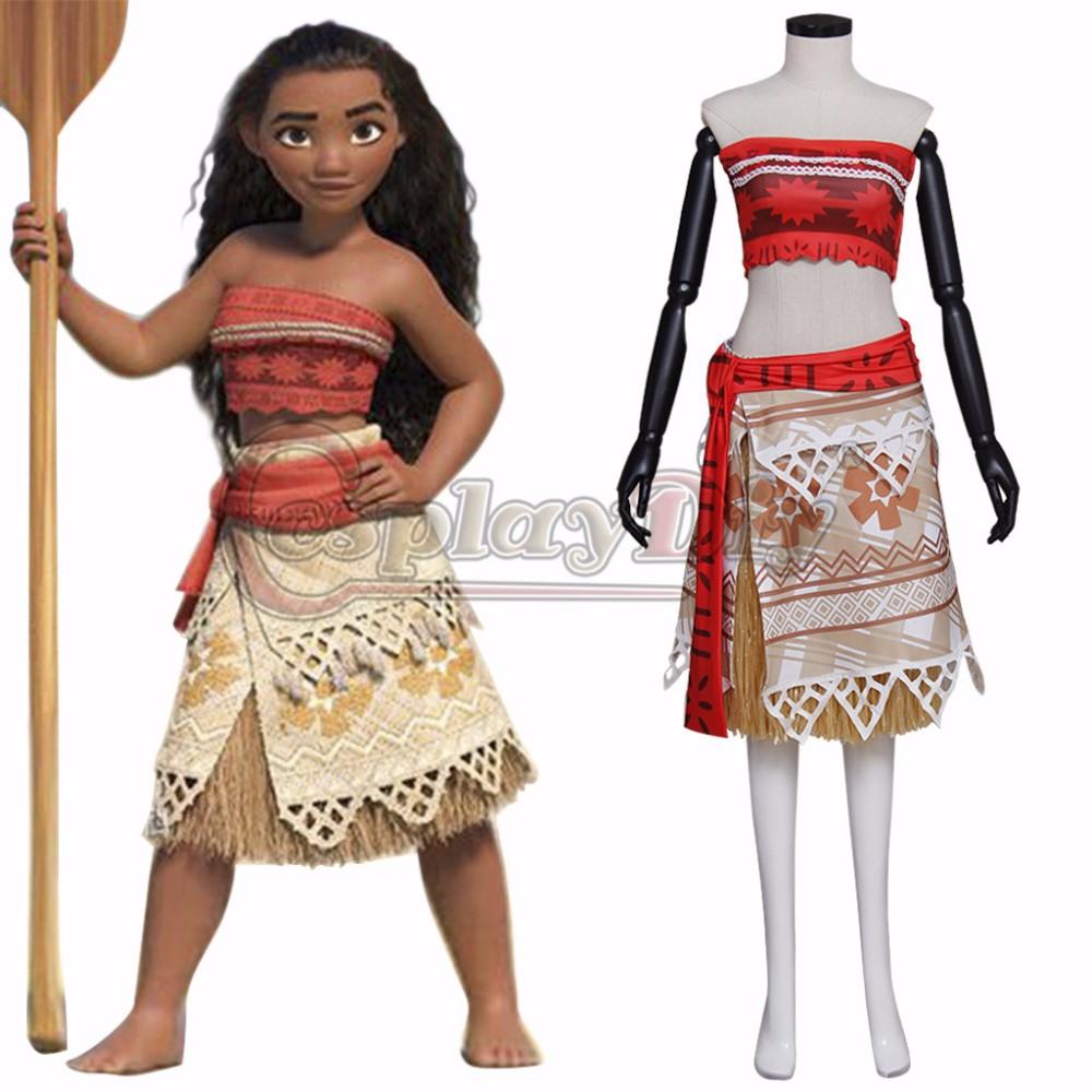 2016 Movie Moana Cosplay Costume Moana Waialiki Adult
