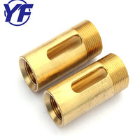 cnc turning brass parts custom manufacturing copper screw bushing or sleeve