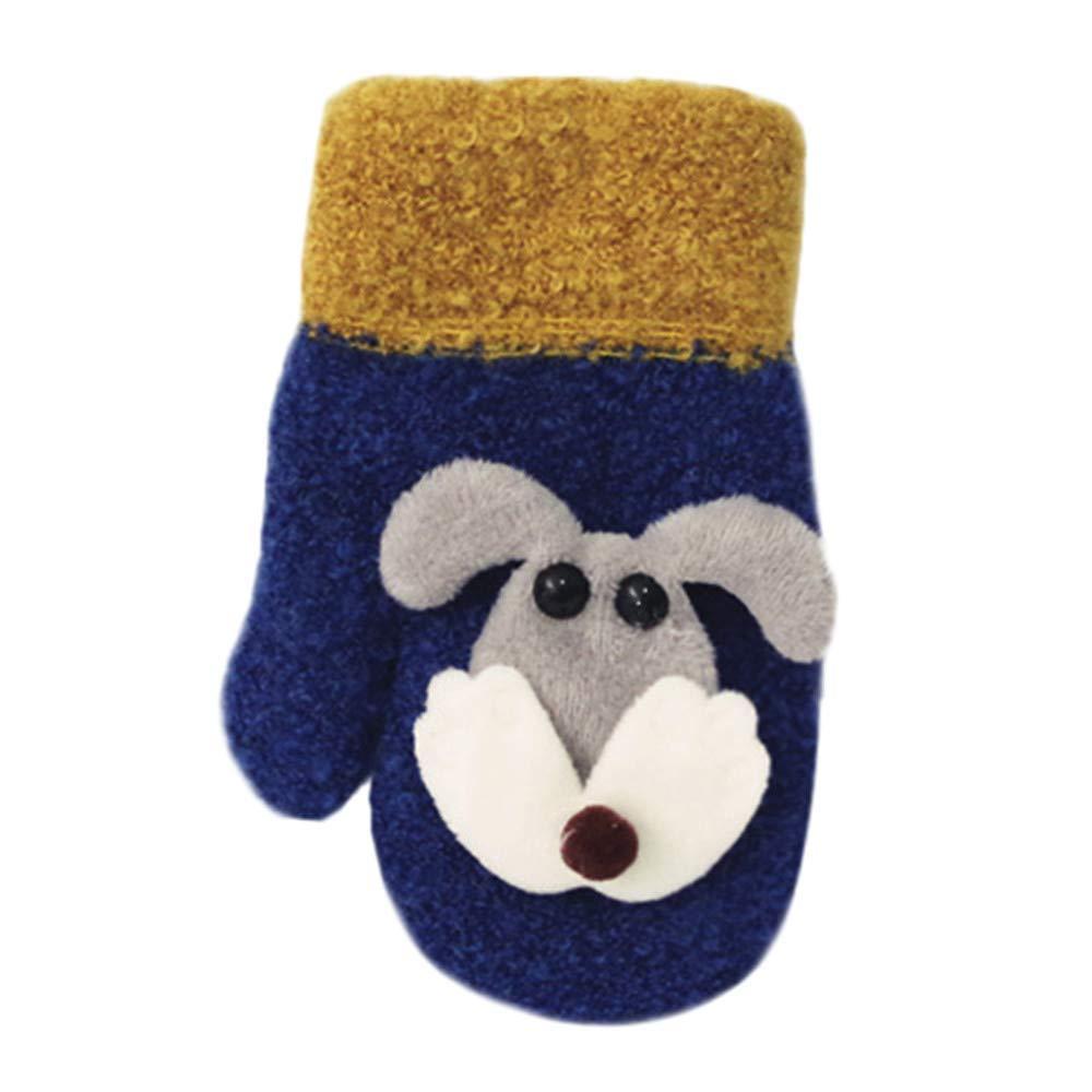 Baby Winter Warm Mittens, Toddler Cute Thicken Stitching Hot Girls Boys of Winter Straps Gloves
