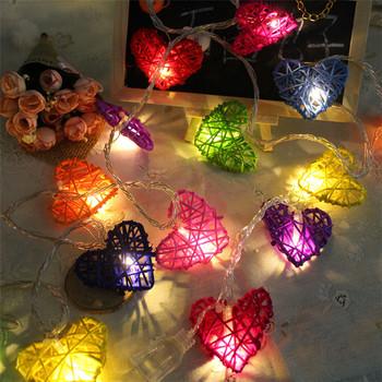 rattan love festival led party lights on sale holiday decorative string lights diwali - Decorative String Lights