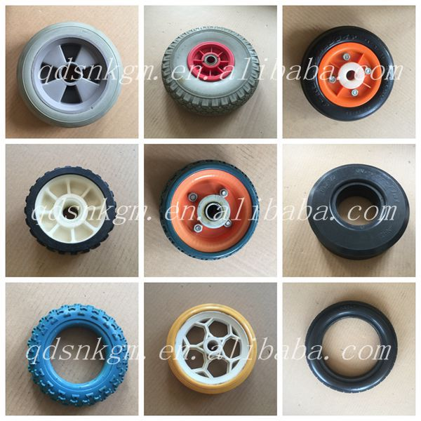 "10"" PU Foam Solid Fixed Castror With Brake"