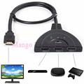 2016 1080P HD TV Adapter Cable 3 Port HDMI Multi Display Auto Switch Hub Box Splitter