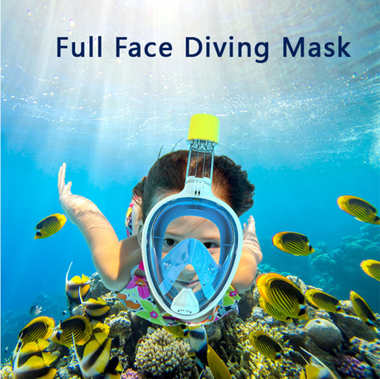 Sea Touch Snorkel Mask Full Face with Gift 180 Degree Panoramic View Anti Fog Anti Leak Best For Adult &Child Diving Set
