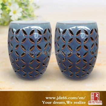Porcelain Chinese Garden Stool Ceramic Stool Decor Ceramic Stool