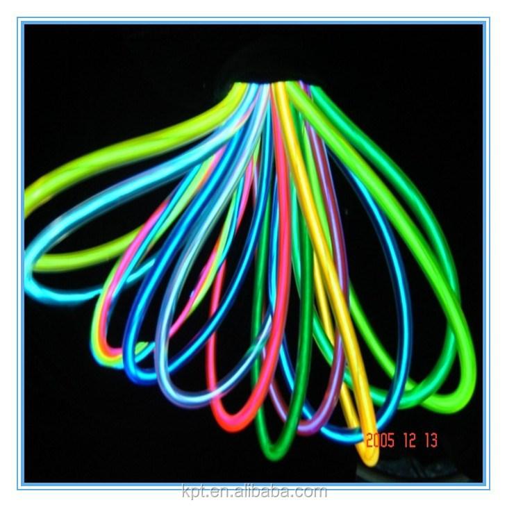elektroluminescente el flexibele neon draad neon kabel neon touw led neon verlichting product. Black Bedroom Furniture Sets. Home Design Ideas