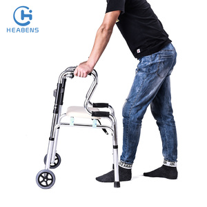 Foldable disabled standing morning walker with casters