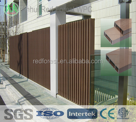 bamboo plastic composite fencing for small garden