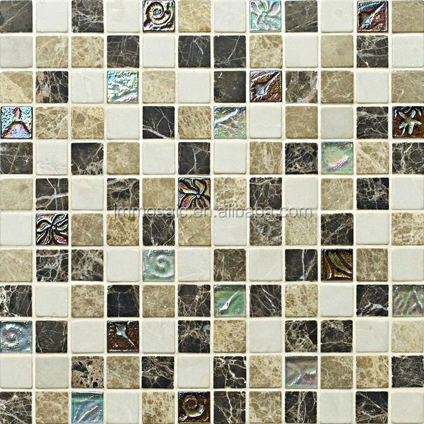 color of rainbow plating finish glass mix marble mosaic