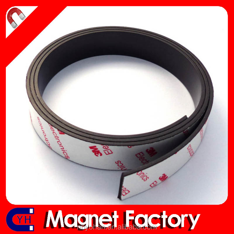 "Flexible Magnets with 3M Adhesive 1/16"" thick x 1/2"" wide x 15 feet. (1 roll)"
