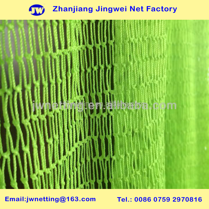Nylon / Polyester Knotted Net, Hardness treatment, Assorted Colors
