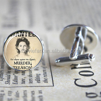 Once Upon A Time Snow White Wanted Poster Cufflinks Cuff Gift For