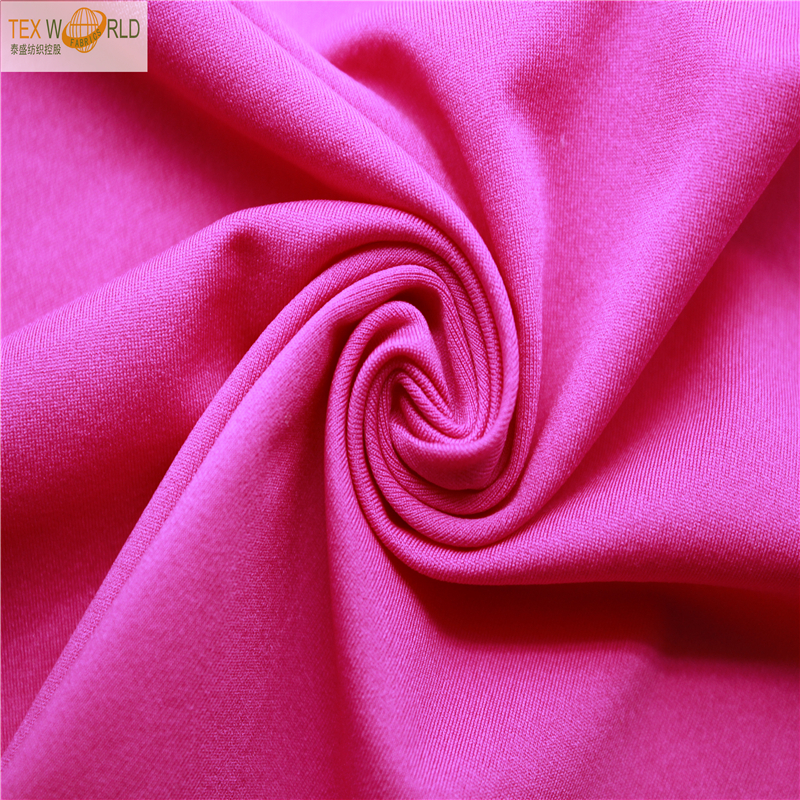 light weight 80% polyester 20% spandex fabric for tank top