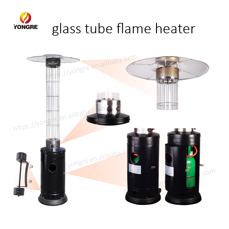 Round Blue Flame Outdoor Patio Heater