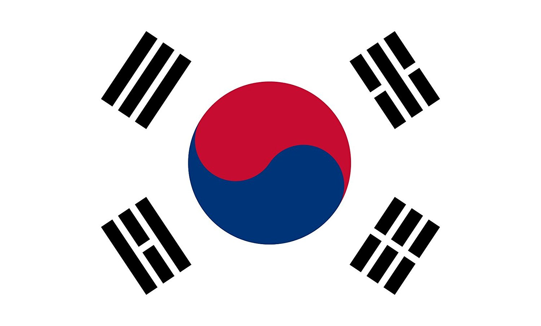 Table-Flag / Desk-Flag: Korea (Republic) (South Korea) 15x25cm