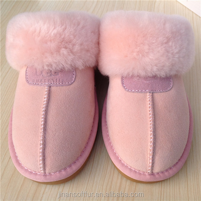 New Ladies Genuine sheepskin moccasin indoor slipper