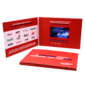 Chinese Homemade Wedding Invitation Digital Screen Business Greeting Lcd Video Card Brochure