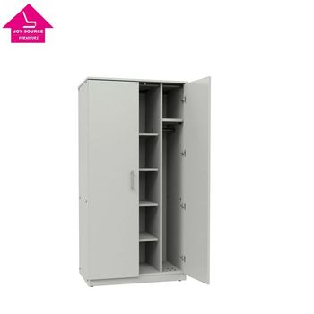 Incroyable White Wooden Wardrobe Closet With Non Locking Doors