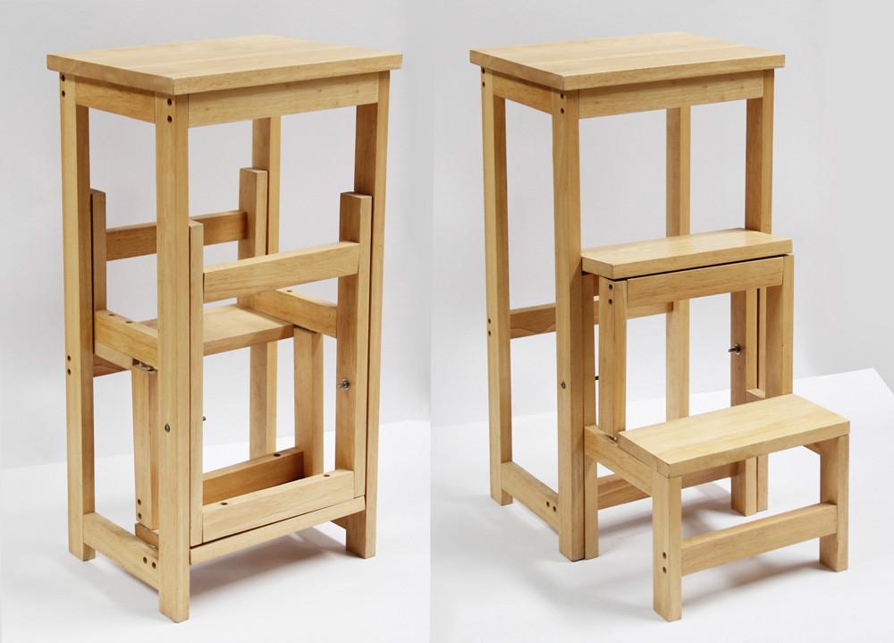 Tramite scaletta sgabello di legno portatile sgabello pieghevole