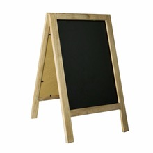 Small Vintage Free Standing Wooden Easel Chalkboard, Rustic Style Two-Side Wood Frame Blackboard